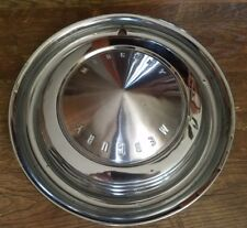 "14"" 1962 1963 MERCURY HUBCAP WHEELCOVER (1) USED ORIGINAL STAINLESS"
