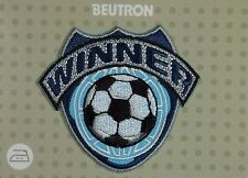 BEUTRON Iron On Motif Applique Soccer Winner Badge Blue BM5235 9312919027360 NEW