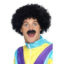 da uomo adulto ANNI 80 LIVERPOOL scouser rétro Afro Parrucca con Baffi Costume