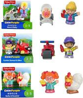 Fisher Price Little People Set of 3 Figure Twin Packs - Cyclist, Sofie, Mom