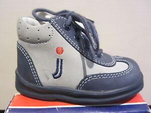 Jela Stiefel Lauflern-Stiefel Boots blau/grau Leder Neu