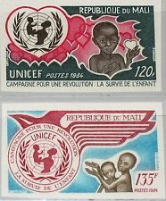 MALI 1984 1017-18 U 494-5 UN Infant Survival Campaign UNICEF gegen Kindersterben