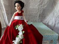 Vintage Madame Alexander Rose Splendor 22680 Porcelain Doll Collectible LTD RARE