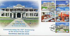 Fiji 2014 FDC Grand Pacific Hotel 5v Set Cover Hotels Architecture Stamps