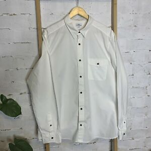 Next Men's Shirt Size 2XL White 100% Cotton Long Sleeve Business Dress Formal