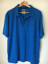 "Dunlop Blue Lined New Poly Cotton Polo T -shirt top Size XL 48"" <T5765"