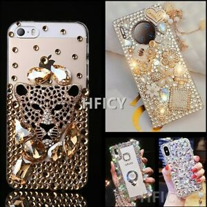 for Sony Phone Cases 3D Women Jewelled Diamonds Bling Crystals Soft Phone Covers