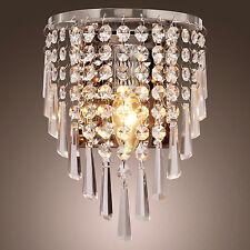 Wall Sconce Fixture Crystal Metal Lamp Light Home Decor Lighting 220-240V UK
