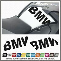 2x BMW Black Fianco Serbatoio BMW R1200GS ADV 08-13 ADESIVI PEGATINA STICKERS