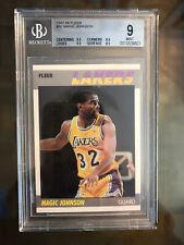 1987 Fleer Basketball Card Karte Magic Johnson BGS 9 Graded