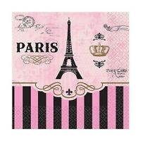 A DAY IN PARIS BEVERAGE NAPKINS EIFFEL TOWER PARTY TABLE DECORATIONS PKT 16 2PLY