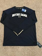 Notre Dame Irish Football Under Armour Crewneck Sweatshirt Large Blue ND