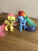 2 My Little Pony Bundle Rainbow Dash & FlutterShy 8cm Cute Gift/Stocking Fillers