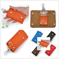 Fashion Classic Hasp Women Men Genuine Leather Key Bag holder Car Keyring