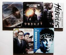 Lot of 5 Steelbook Blu-rays (Los Angeles Enders Hercules Kingsman Zoolander)