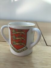 W H Goss Three Handled Loving Cup - 3 Crests - Anglesea/Prince Llewelyn/Wales