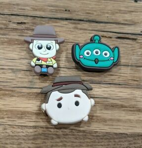 Shoe Charms: Disney Pixar Toy Story, Woody And Alien Like Jibbitz For Crocs