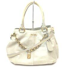 Prada Hand Bag  Grays Leather 1415374