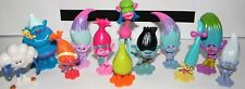 Trolls Figure Set - 17 Pieces with 12 Figures and 5 Jewels Movie Cake Toppers