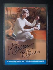 SPACE 1999 S3: METALLIK AUTOGRAPH CARD: BARBARA BAIN SC-BB1 ONLY 30 WERE SIGNED
