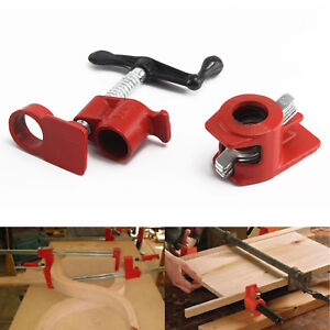 """Heavy Duty Quick Release 3/4""""Wood Gluing Pipe Clamp For Woodworking Cast Iron UK"""