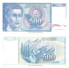 Yugoslavia 500 Dinara 1990 P-106 Banknotes UNC
