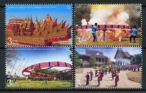 Thailand 2018 MNH Thai Traditional Skyrocket Festival 4v Set Festivals Stamps
