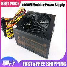 1600W Modular Power Supply For 6 GPU Eth Rig Ethereum Coin Mining Miner 90 Gold