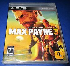 Max Payne 3 Sony PlayStation 3 *Factory Sealed! *Free Shipping!