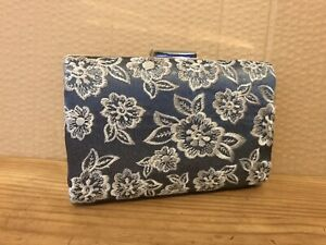 Grey Clutch With Lace Detail