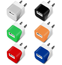 USB Wall Fast Charger Mini Adapter 5W 1A  For Android / Galaxy / iPhone - 6 Pack