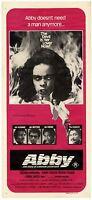 """ULTRAWITZIG, Australisches daybill-Horrorfilmposter, """"Abby"""" von 1974"""
