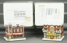 4 Hawthorne Village USMC Christmas Buildings Lot 600