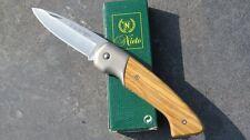 Nieto Coltello Coltellino Coltello pieghevole Olive legno acciaio an.58 266511 NUOVO