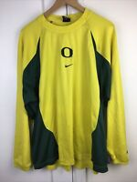 Team NIKE Dri-Fit Mens Sz XL University of Oregon Ducks Long Sleeve Pullover Top