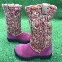 Keen Toddler Girls High Boots Sweater Size 11 Baby Auburn 8641-BERD Raspberry