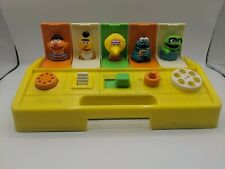 Vintage 1985 Playskool Poppin Pals Pop Up Toy Sesame Street Baby Learning Toy