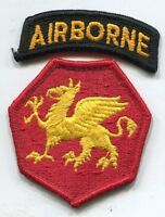 Vintage US Army 108th Airborne Division Full Color Patch W/ Airborne Tab
