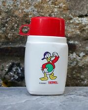 *Thermos gourde Donald Disney Roughneck Flask avec tasse rouge vintage