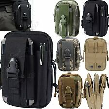 Universal Army Tactical Molle Waist Sport Bag Pouch Phone Case Belt Loop Hook UK