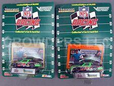 Nfl Racing Car & Card Set New Orleans Saints & Tampa Bay Buccaneers Nascar '92