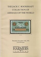 Subasta catálogos Jack C boonshaft Airmails del mundo partes 1 y 2