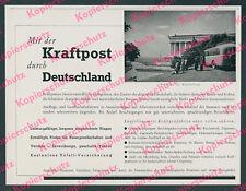 Reichspost Kraftpost Omnibus Reisen Walhalla Donaustauf Regensburg Bayern 1937