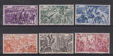French Eq. Africa - SG 229/34 - f/u - 1946 - Air - from Chad to Rhine