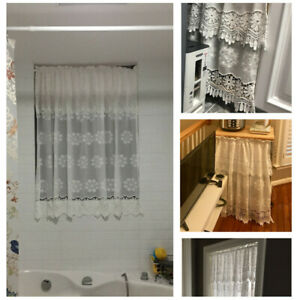 1PC Hollow Small Window Kitchen Bathroom Cafe Door Drapes Blackout Home Decor