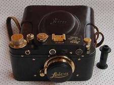 Leica III regular D.R.P. copy black-gold in leather case (FED copy)