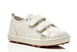 Stuart Weitzman ARIANA Toddler Girls White Double Strap Sneaker Sz 7 NWOB