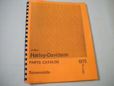 Harley-Davidson Aermacchi 1971-1975 Snowmobile Parts Manual
