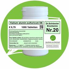 Schüßler-Salz Nr.20 Kalium alum.sulf. D6 1000 Tabl. PZN 08004687