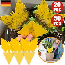 20/50x Gelbtafeln Gelbsticker Fliegenfänger Gelbe Tafeln Fruchtfliegen Falle DE